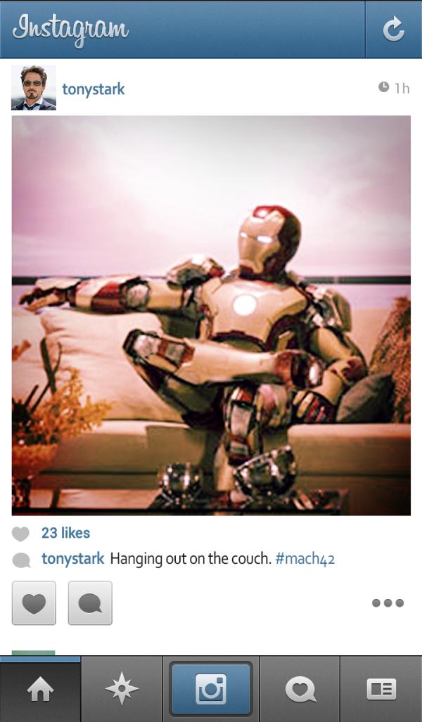 E se os super-heróis usassem Instagram