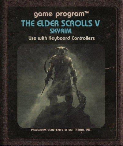 Jogos modernos em versões cartuchos de Atari