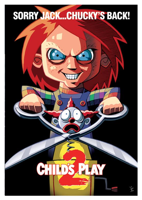 Posters de filmes cartoonizados