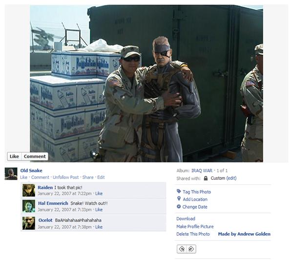 Até os personagens dos video games estão no facebook (2)