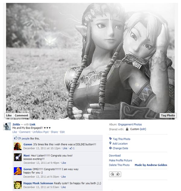 Até os personagens dos video games estão no facebook (3)