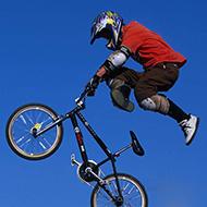 Uma manobra sensacional de Bike