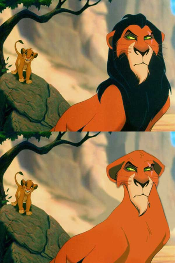 Personagens da Disney sem a barba (1)