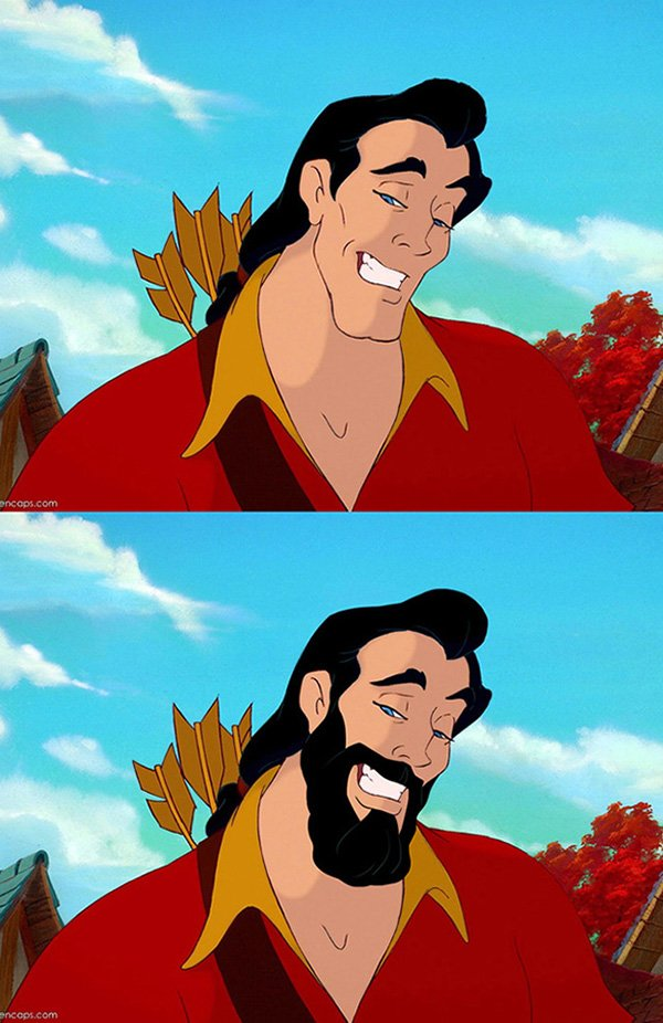 Personagens da Disney sem a barba (5)