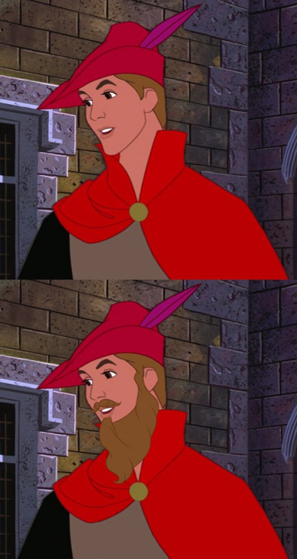 Personagens da Disney sem a barba (9)