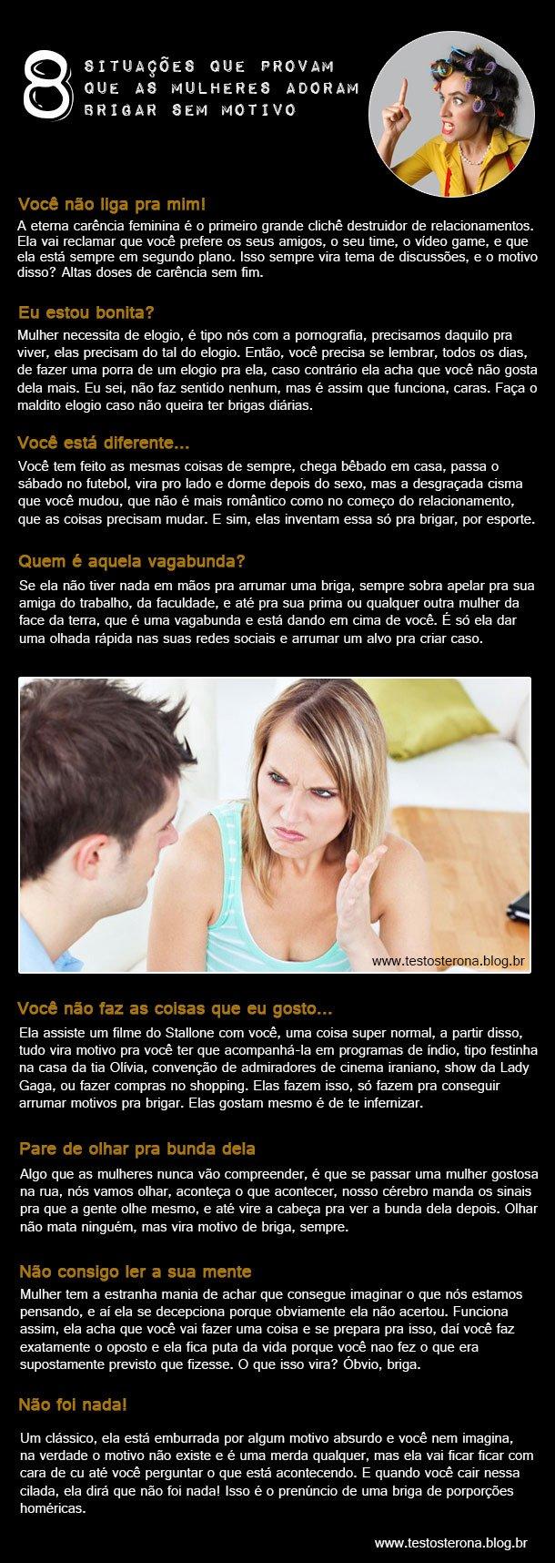 situacoes que provam que as mulheres adoram brigar sem motivo