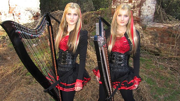 Camille and Kennerly Kitt Harp Twins