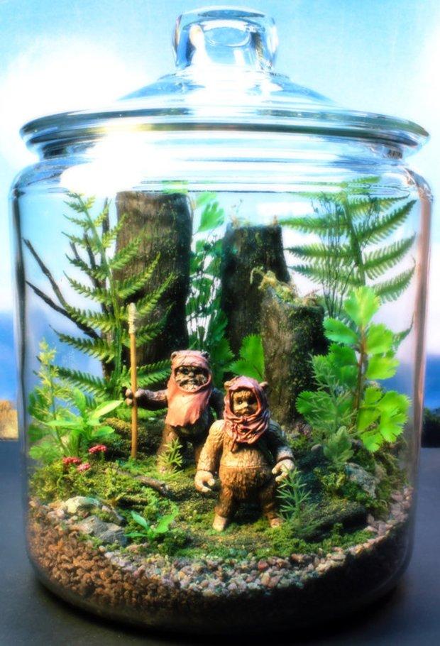 Esculturas dentro de um aquário (1)