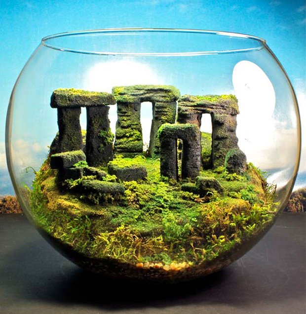 Esculturas dentro de um aquário (10)