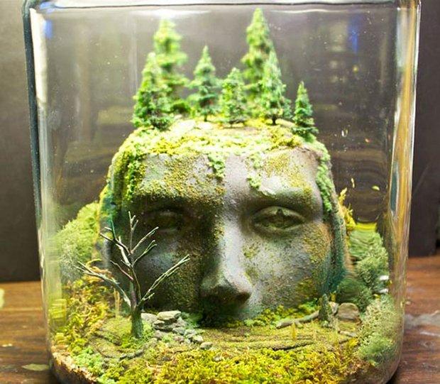 Esculturas dentro de um aquário (11)