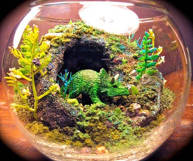 Esculturas dentro de um aquário (12)
