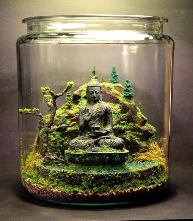 Esculturas dentro de um aquário (13)