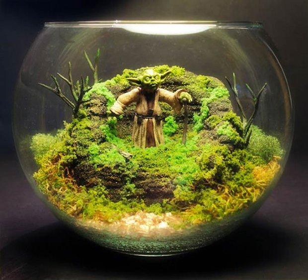 Esculturas dentro de um aquário (9)