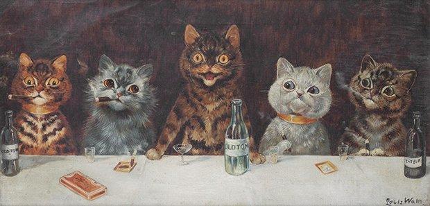 Gatos desenhados por um esquizofrênico Lous Wain (1)