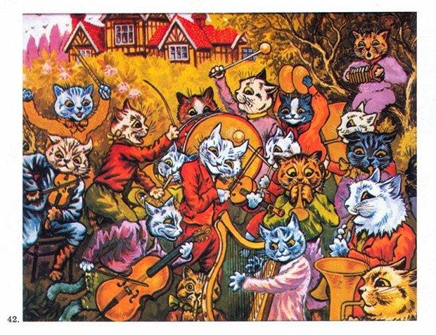 Gatos desenhados por um esquizofrênico Lous Wain (11)