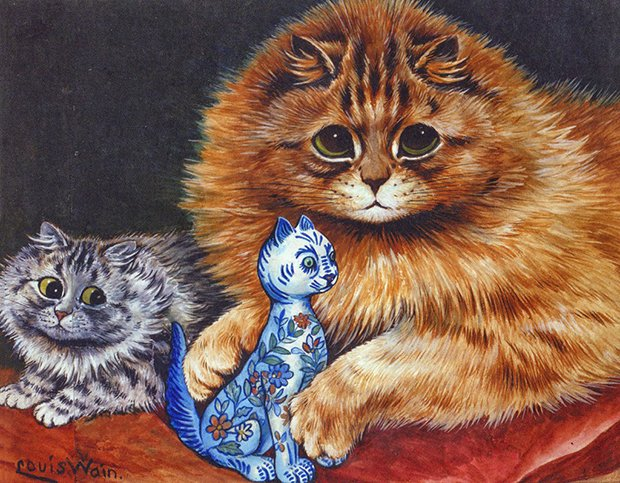 Gatos desenhados por um esquizofrênico Lous Wain (12)