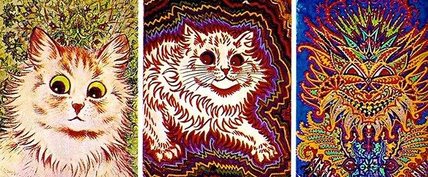 Gatos desenhados por um esquizofrênico Lous Wain (13)
