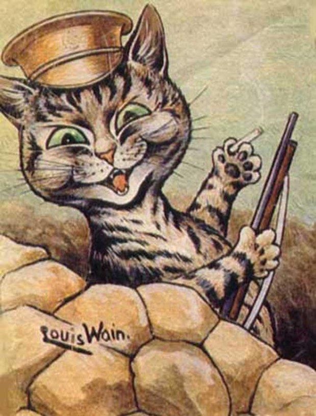 Gatos desenhados por um esquizofrênico