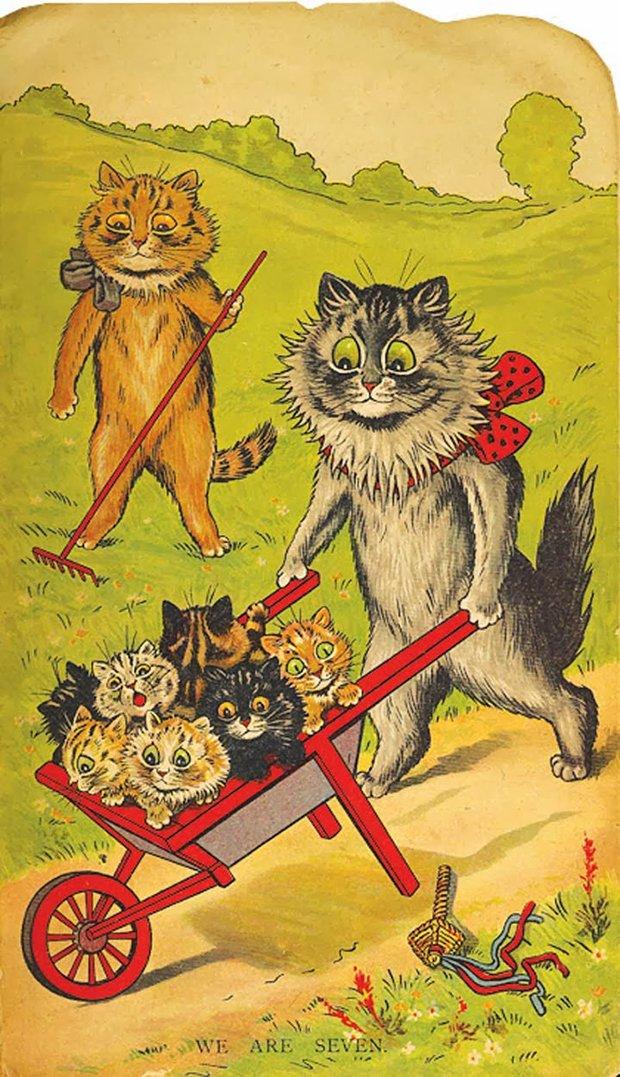 Gatos desenhados por um esquizofrênico Lous Wain (2)