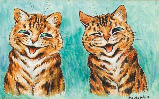 Gatos desenhados por um esquizofrênico Lous Wain (3)