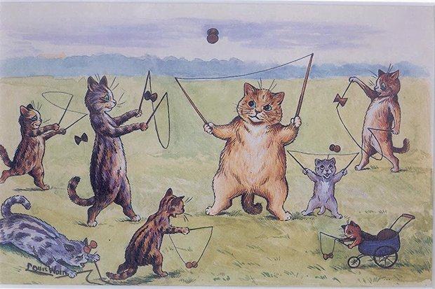 Gatos desenhados por um esquizofrênico Lous Wain (4)