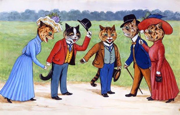 Gatos desenhados por um esquizofrênico Lous Wain (5)