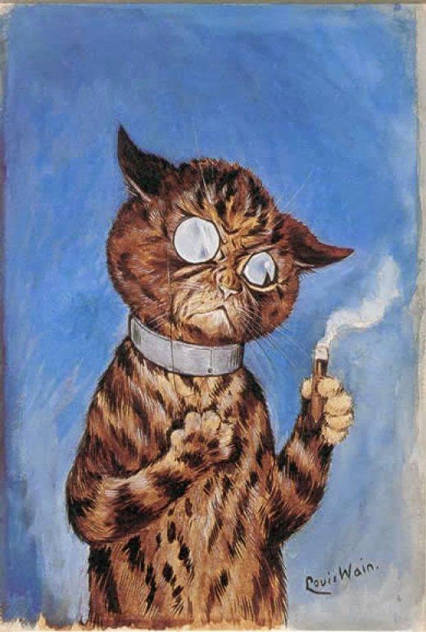 Gatos desenhados por um esquizofrênico Lous Wain (6)
