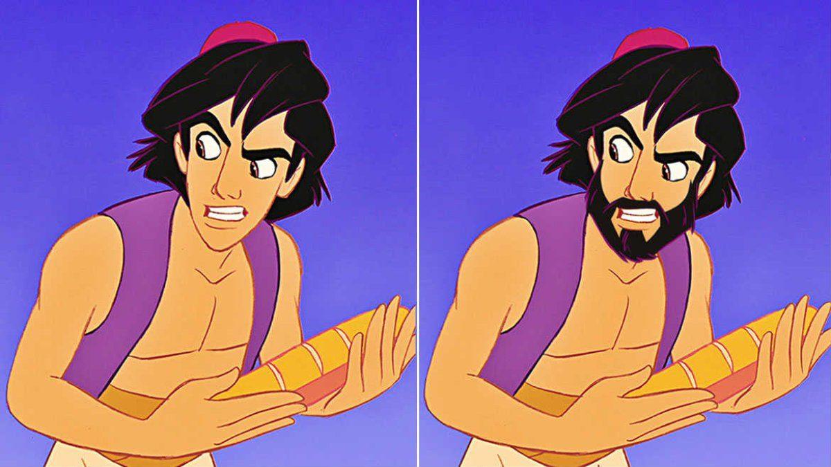 Personagens da Disney sem a barba