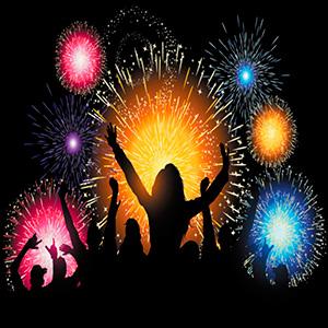 Fogos de artificio e Breakdance