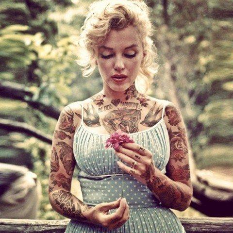 Celebridades com o corpo fechado de tatuagens 28