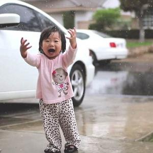Vendo a chuva pela primeira vez