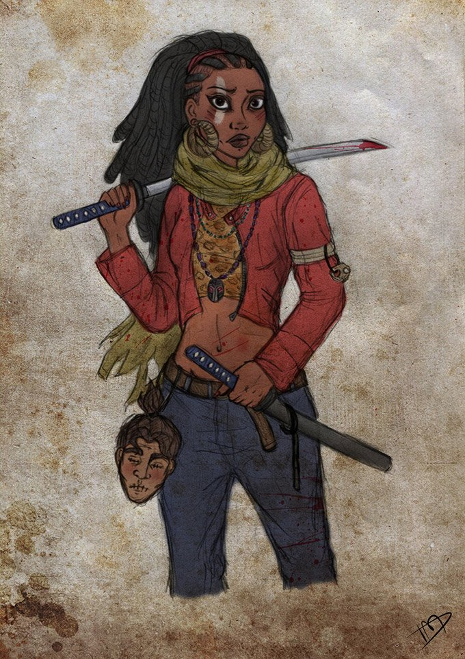 Disney-characters-as-zombie-hunters-3
