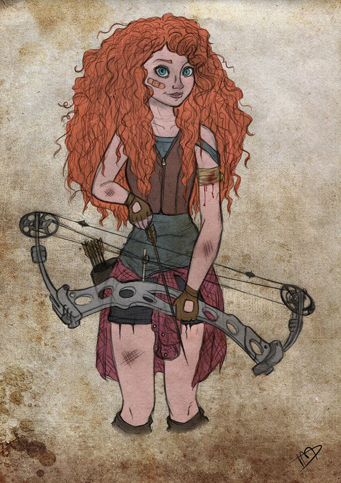 Disney-characters-as-zombie-hunters