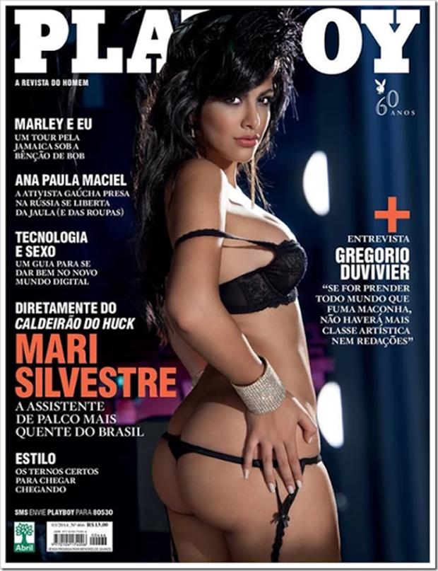 Fotos Playboy Mari Silvestre Caldeirão do Huck Março (1)