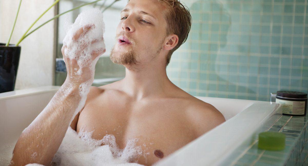 O banho do homem e da mulher