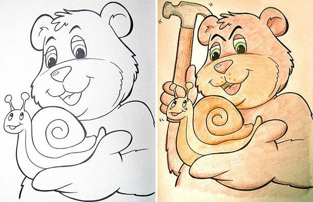 O que acontece quando adultos pegam livros de colorir