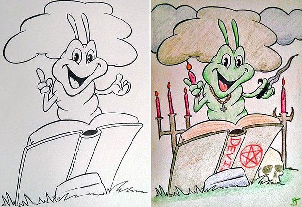 O que acontece quando adultos pegam livros de colorir (6)