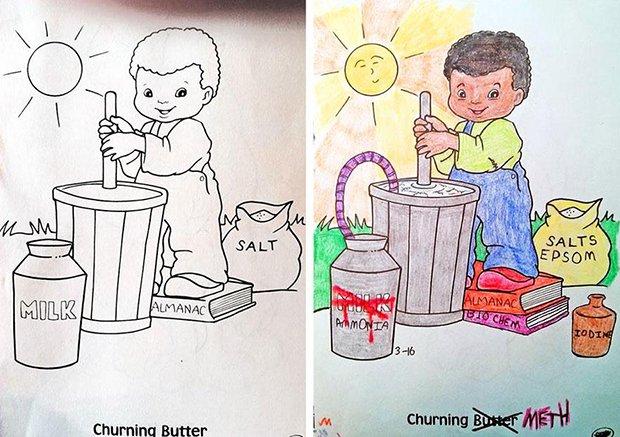 O que acontece quando adultos pegam livros de colorir (7)