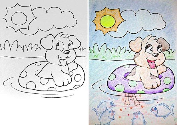 O que acontece quando adultos pegam livros de colorir (9)