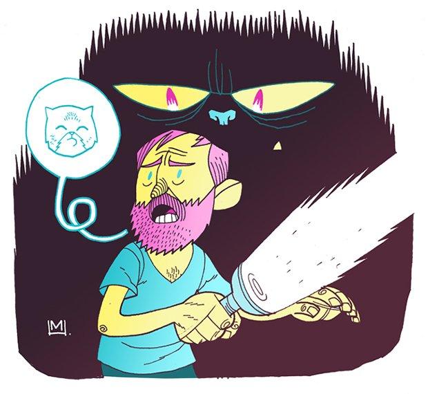 Ilustrações da vida de uma gatinha (10)