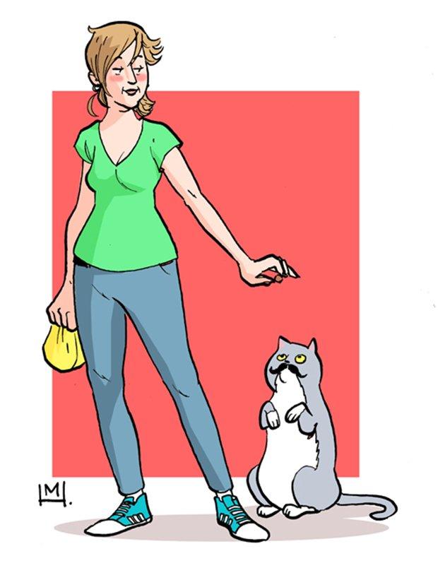 Ilustrações da vida de uma gatinha (30)