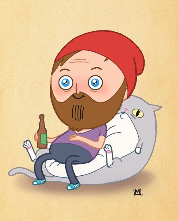 Ilustrações da vida de uma gatinha (34)