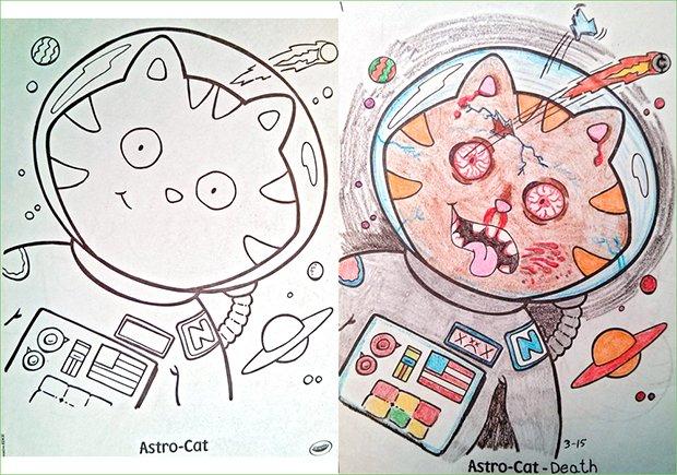 O que acontece quando adultos pegam livros de colorir (10)