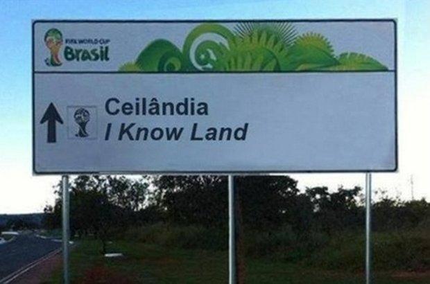 Placas brasileiras traduzidas para a Copa do Mundo (2)