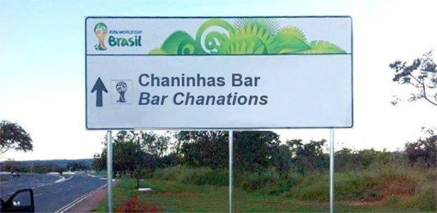 Placas brasileiras traduzidas para a Copa do Mundo (3)