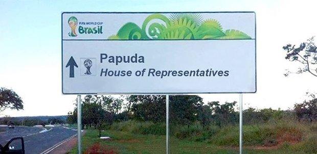 Placas brasileiras traduzidas para a Copa do Mundo (9)