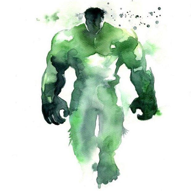 Super-Herois em aquarelas (1)