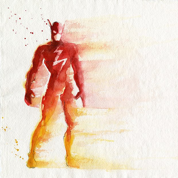 Super-Herois em aquarelas (10)