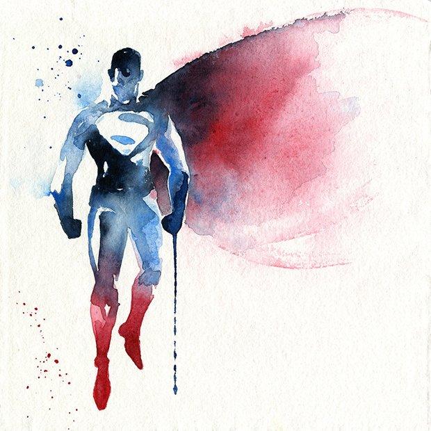 Super-Herois em aquarelas (15)