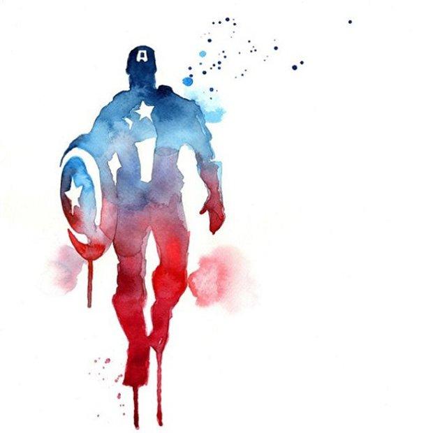 Super-Herois em aquarelas (17)